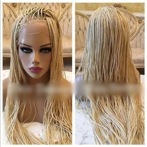 Lace front Platinum Box Braid Wig
